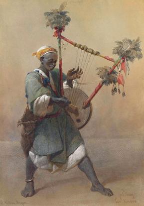 A Nubian Harper resim