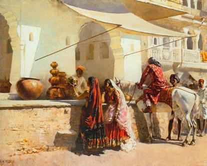 A Street Market Scene  0