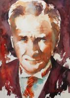 Sulu Boya Atatürk Portresi 03 - ATA-155