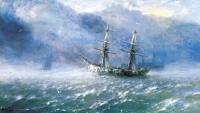 Buzlu Fırtınalı Denizde Gemi - AIK-111