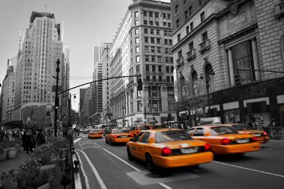 New York ve Taksiler resim