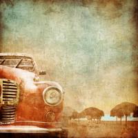 Retro Klasik Araba  - IMB-154