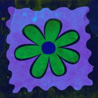 Soyut Çiçek Tablosu  - IMB-253