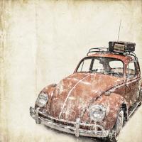 Vintage Kırmızı Vosvos - IMB-153