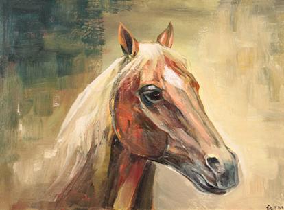 Yağlıboya At resim