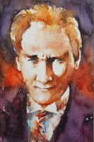 Sulu Boya Atatürk Portre - ATA-C-151