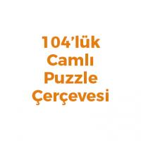 104 Parça Puzzle Çerçevesi