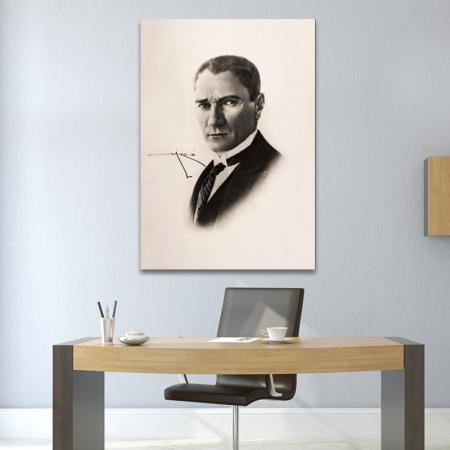 Kara Kalem Atatürk Portresi resim2