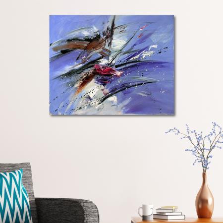 Mavi Soyut Kompozisyon resim2
