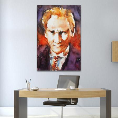Sulu Boya Atatürk Portre resim2