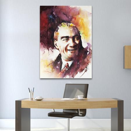 Sulu Boya Atatürk Portresi 02 resim2