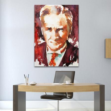 Sulu Boya Atatürk Portresi 03 resim2