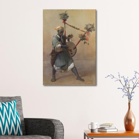 A Nubian Harper resim2