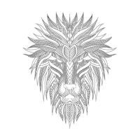 Aslan Desenli Mandala Tablosu - CM-021