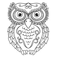 Baykuş desenli Mandala Tablosu - CM-022