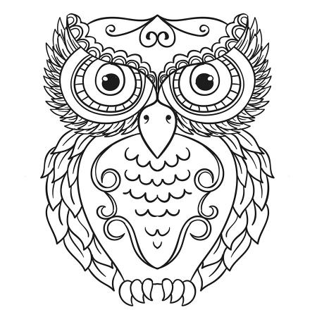 Baykuş desenli Mandala Tablosu resim