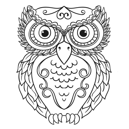 Baykus Desenli Mandala Tablosu Mandala Tablosu Cercevelet Com