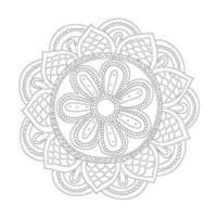 Çiçek Desenli Boyanabilir Kanvas Tablo - CM-029