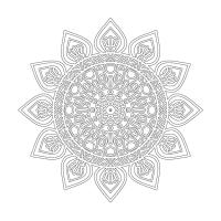 Çiçek Desenli Mandala Tablosu - CM-018