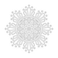 Çiçek Desenli Mandala Tablosu - CM-019