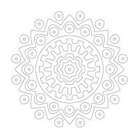 Çiçek Desenli Mandala Tablosu - CM-006