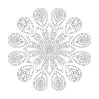 Çiçek Desenli Mandala Tablosu - CM-007