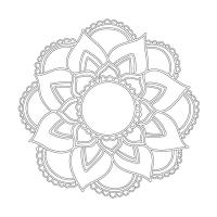 Çiçek Desenli Mandala Tablosu - CM-023