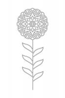 Çiçek Desenli Mandala Tablosu - CM-028