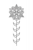 Çiçek Desenli Mandala Tablosu - CM-030