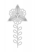 Çiçek Desenli Mandala Tablosu - CM-049