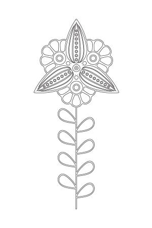 Çiçek Desenli Mandala Tablosu 0