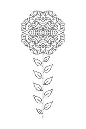 Çiçek Desenli Mandala Tablosu resim
