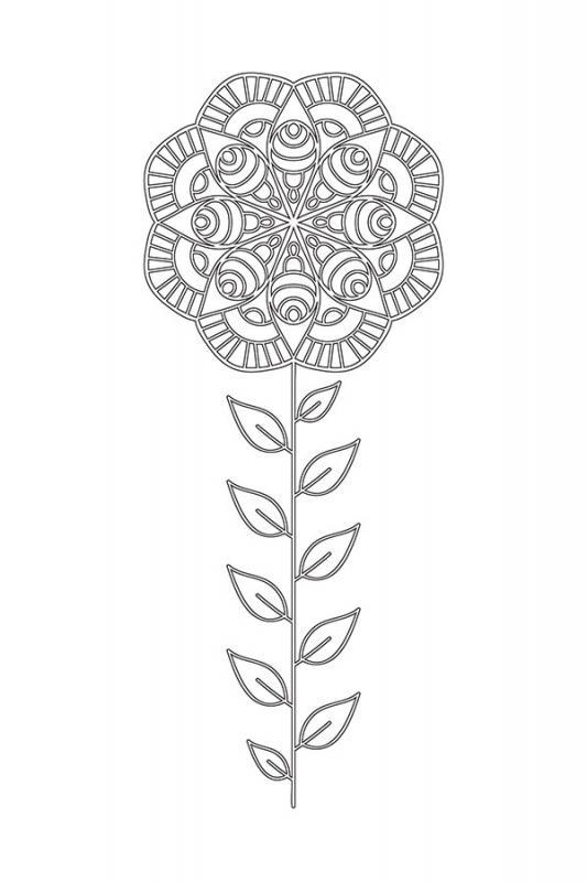 Cicek Desenli Mandala Tablosu