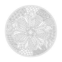 Çiçek Desenli Mandala Tablosu - CM-058