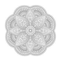Çiçekli Desenli Boyama Tablo - CM-045