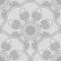 Floral Desenli Mandala Tablosu - CM-003