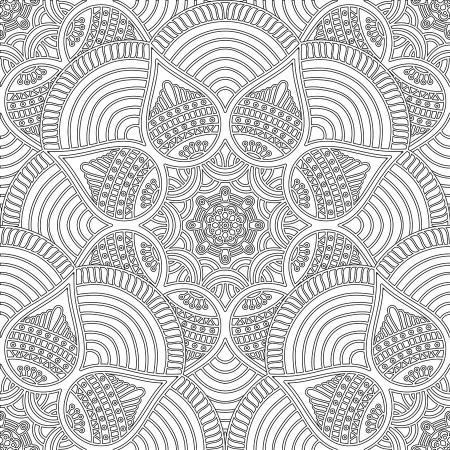 Floral Desenli Mandala Tablosu resim