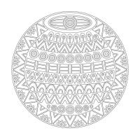 Geometrik Boyama Tablo - CM-048