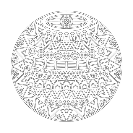 Geometrik Boyama Tablo Boyama Tablo Cercevelet Com Mandala