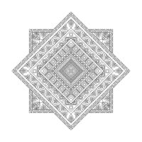 Geometrik Desenli Mandala Tablosu - CM-044