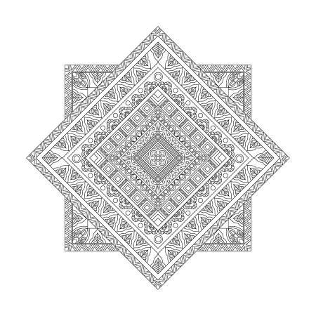 Geometrik Desenli Mandala Tablosu resim