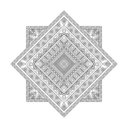 Geometrik Desenli Mandala Tablosu 0