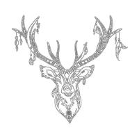 Geyik Desenli Boyanabilir Kanvas Tablo - CM-015