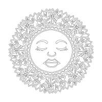 Güneş Desenli Mandala Tablosu - CM-033