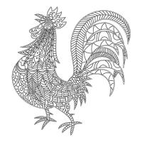 Horoz Desenli Mandala Tablosu - CM-016