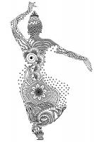 Kadın Desenli Boyanabilir Kanvas Tablo - CM-064