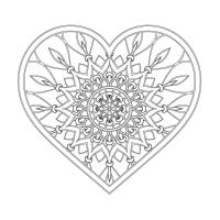 Kalp Desenli Boyanabilir Tablo - CM-020