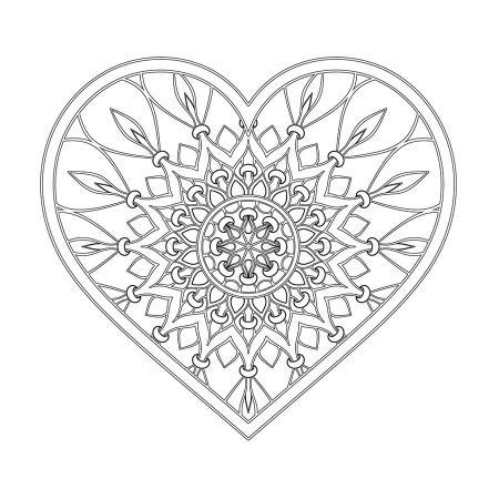 Kalp Desenli Boyanabilir Tablo resim