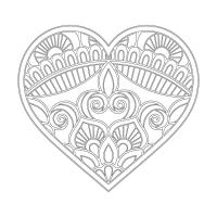 Kalp Desenli Mandala Tablosu - CM-026
