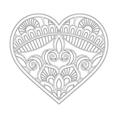 Kalp Desenli Mandala Tablosu resim